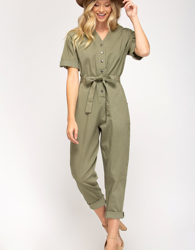 Fall into Line Jumpsuit