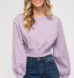 Terry Lav Crop Top