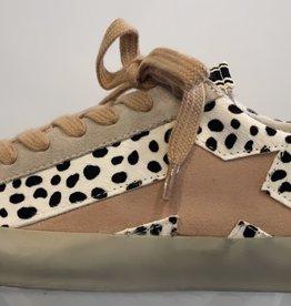 White Cheetah Star Sneakers