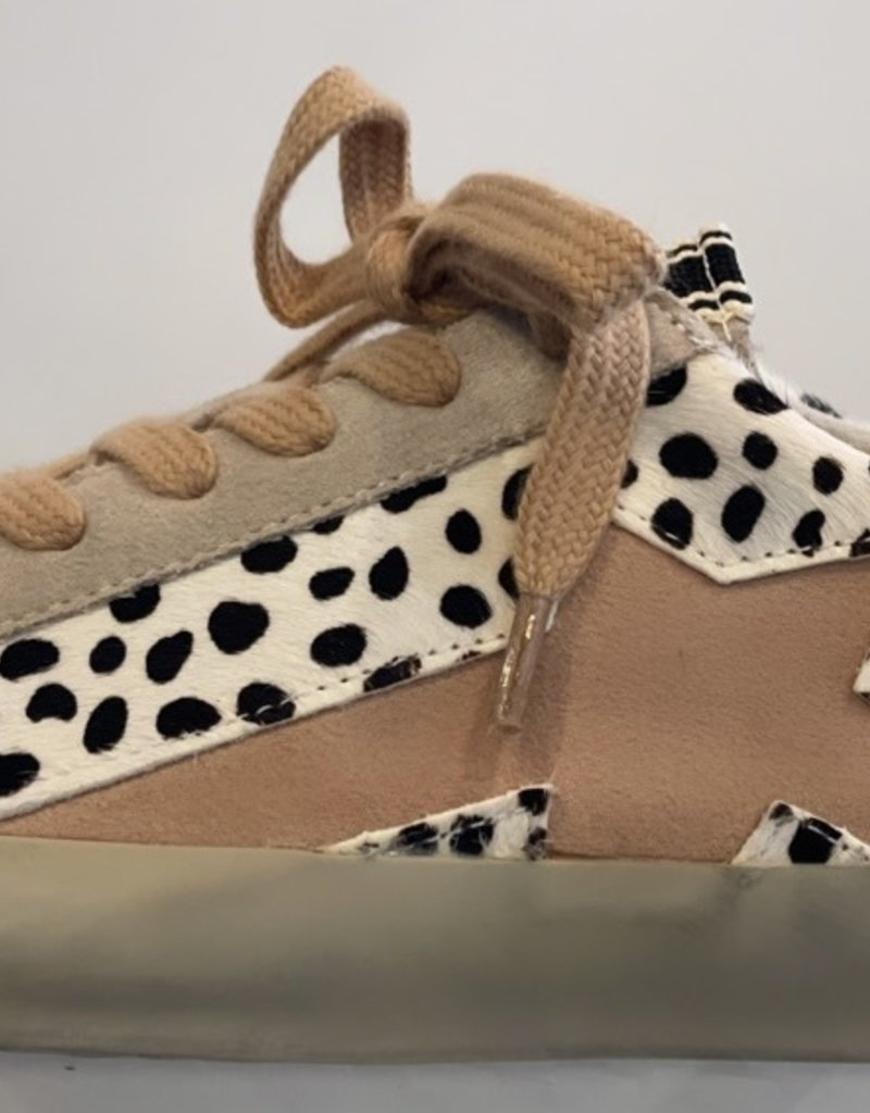 White Cheetah Star Sneakers