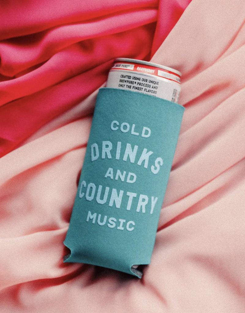 Cold Drinks + Country Music Koozie