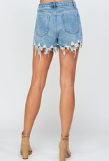 Sig8 High Rise Distressed Short