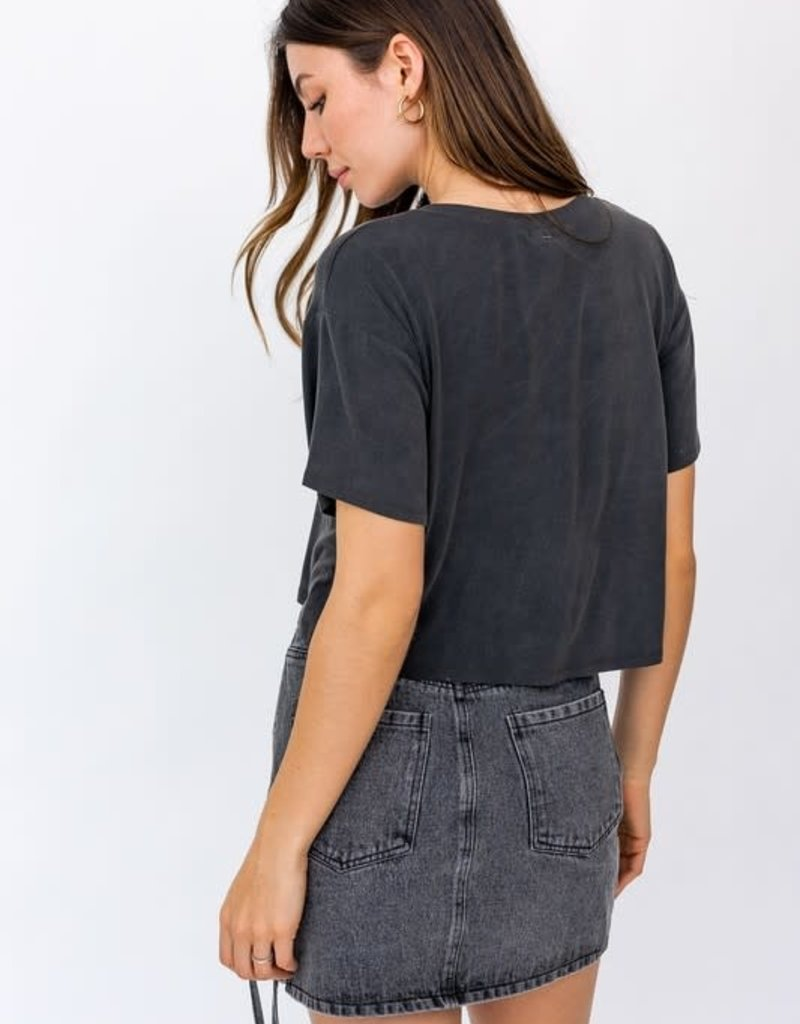 Forever Rock And Roll Crop Tee