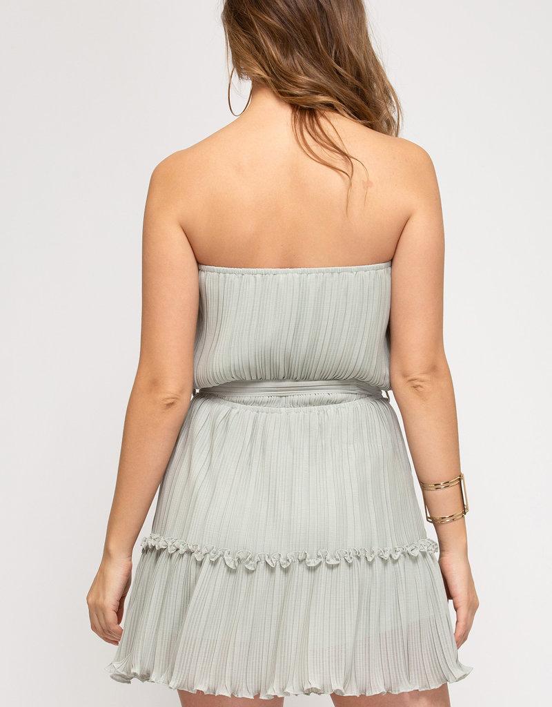 Sage Flock Dress