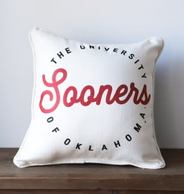 Retro Circle Sooner Pillow