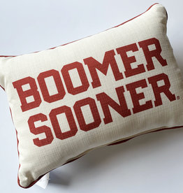 Red Boomer Sooner Pillow
