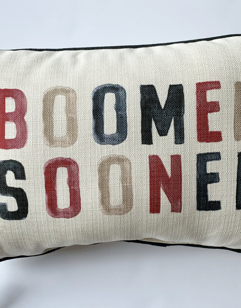 Poster Boomer Sooner Pillow