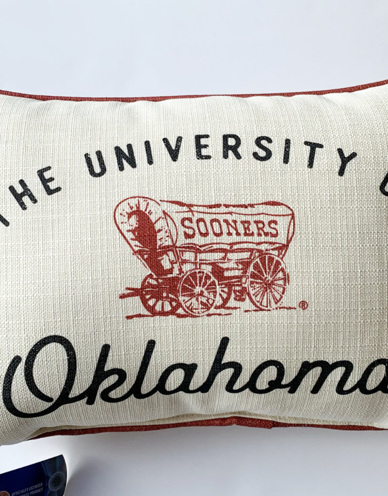 U of Ok Pinstripe Pillow