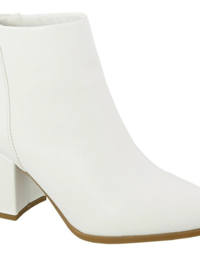 All White Bootie