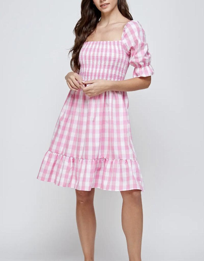 Flamingo Check Dress
