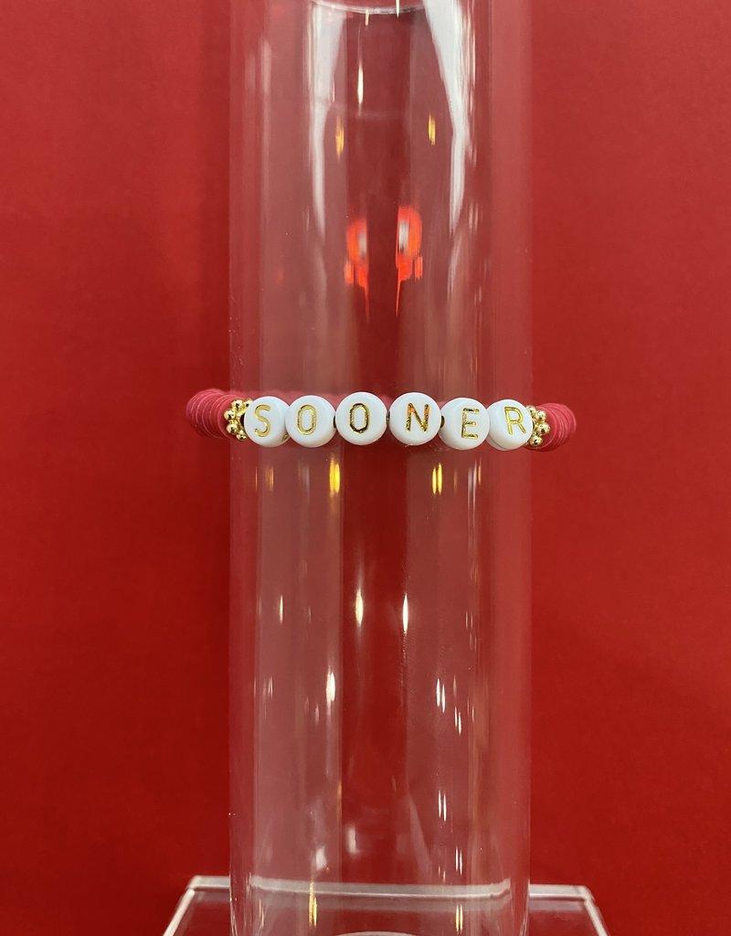 Red Sooner Bracelet
