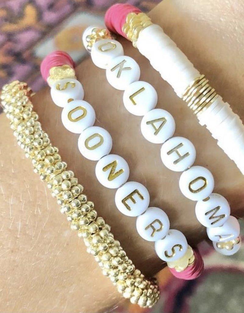 White Oklahoma Bracelet
