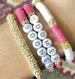 Red White Gold Bracelet