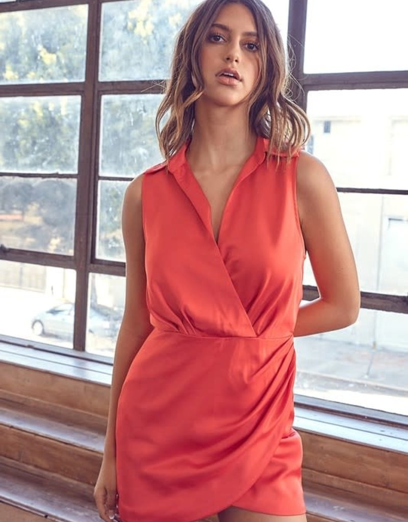 Collar Wrap Dress