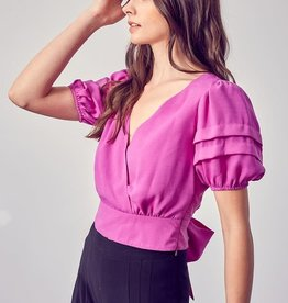 Strap Detail Orchid Top