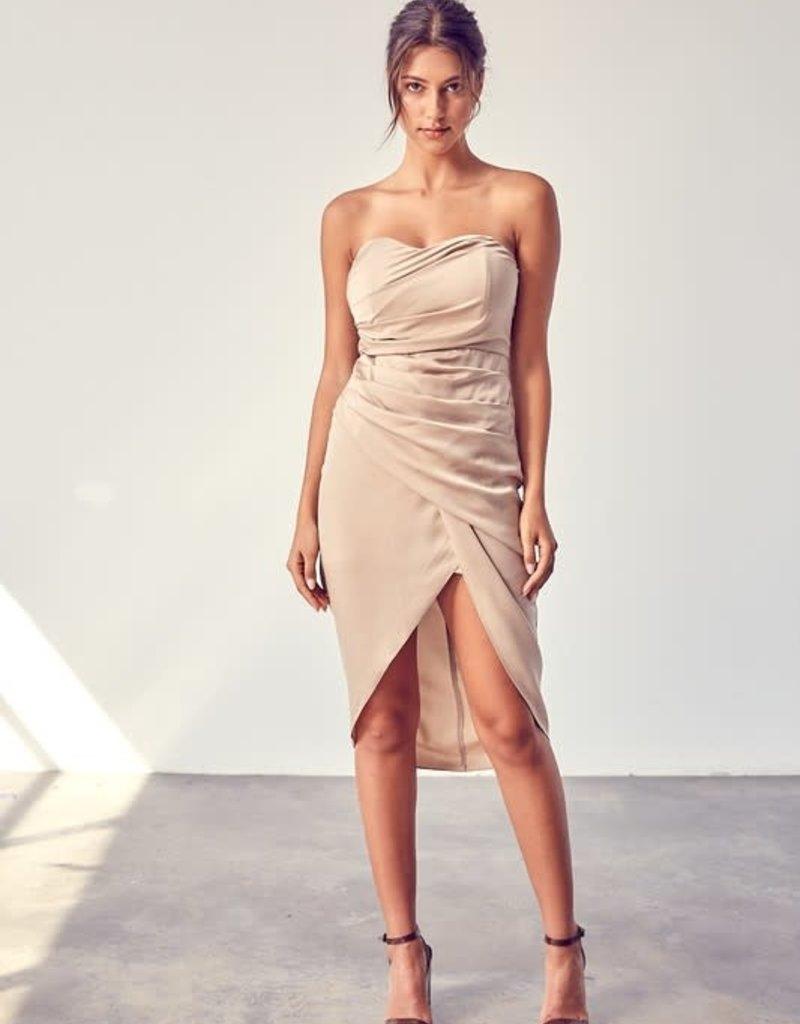 Strapless Wrap Dress