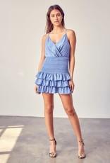 Soft Denim Ruffle Dress