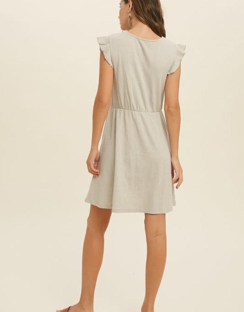 Stone Smocked Dress