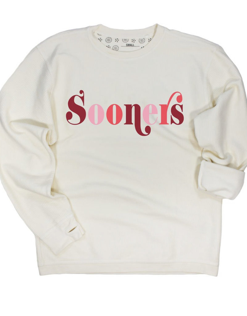 Multi Sooners Corded Pullover