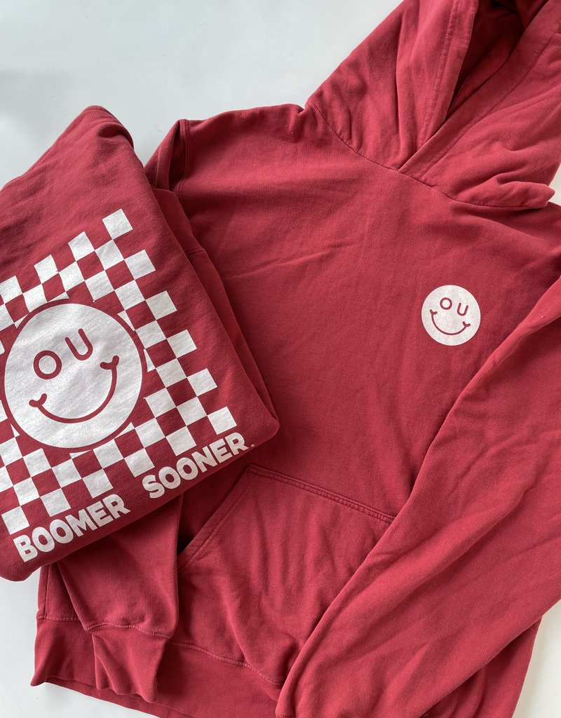 Smiley Check Hoodie