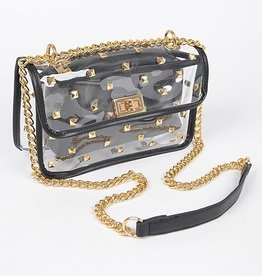 Clear and Black Stud Purse