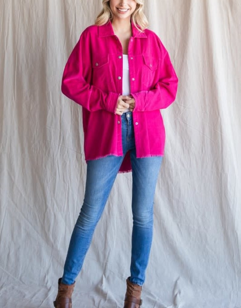 Hot Pink Cord Jacket