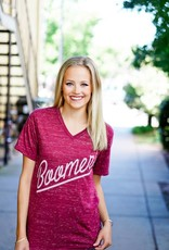 Opolis Boomer Yell Crimson V Neck