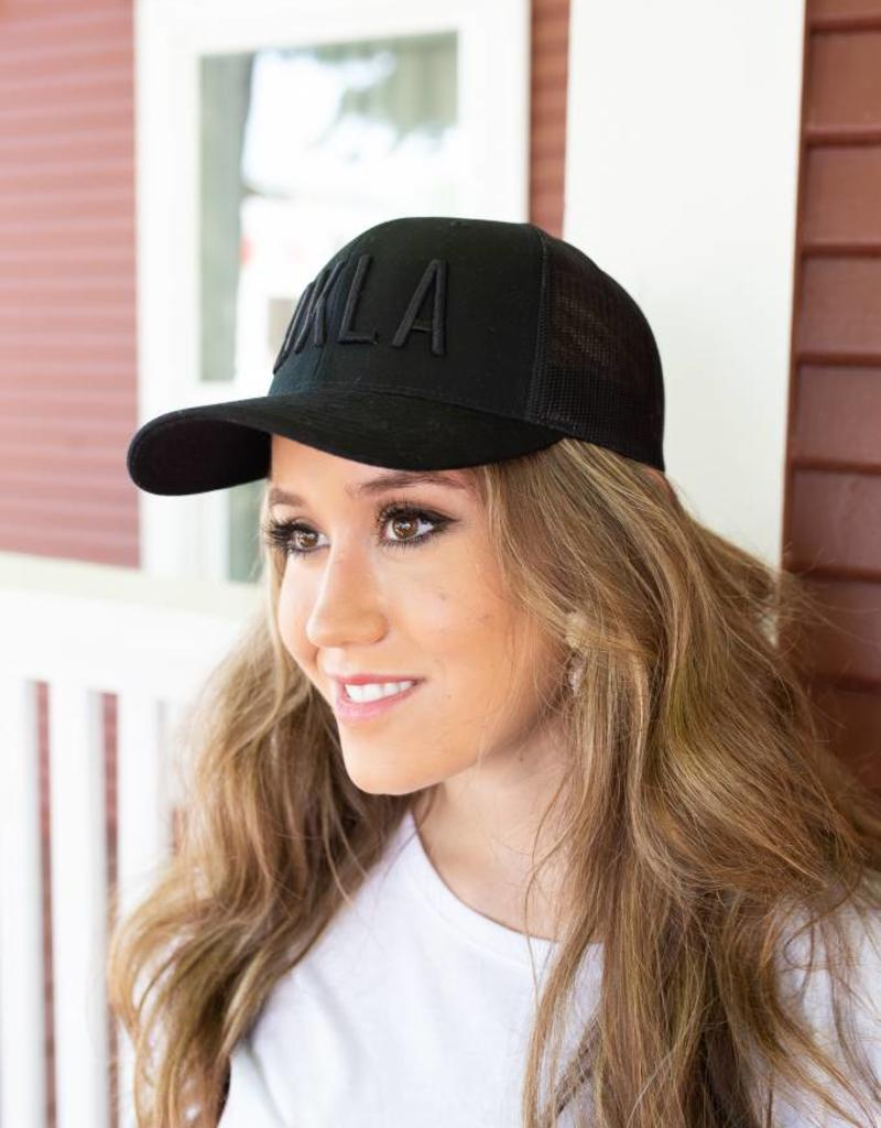 Black With Black OKLA Trucker