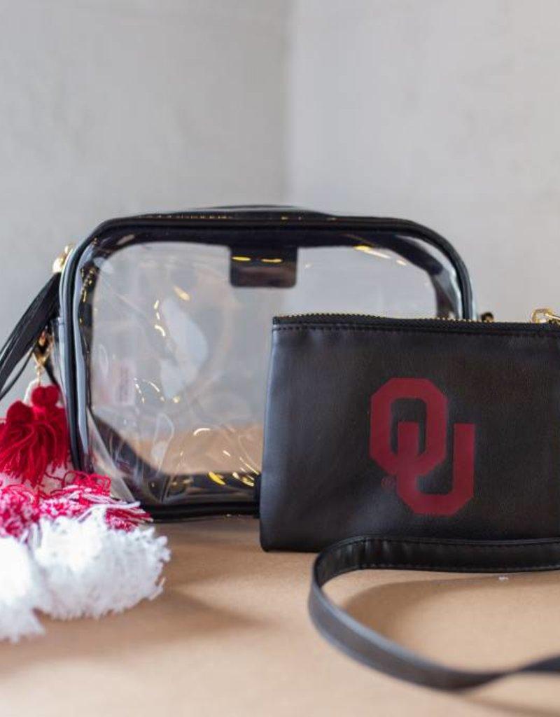 Poppy Tassel Black Bag