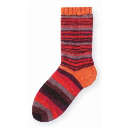 Gedifra Lana Mia One 4 Two Sock Yarn in Red/Orange/Grey