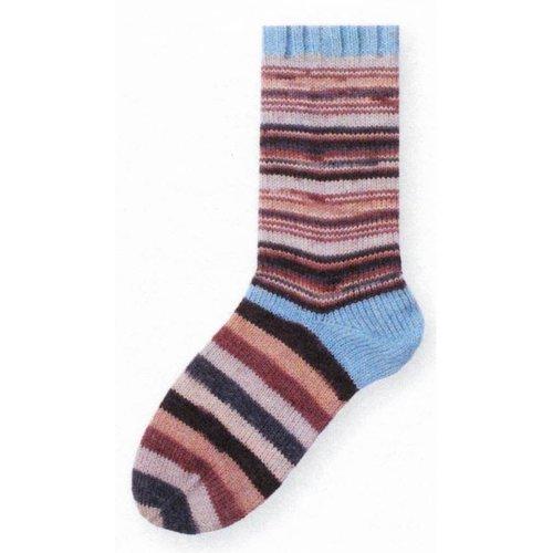 Gedifra Lana Mia One 4 Two Sock Yarn in Brown/Taupe/Sky