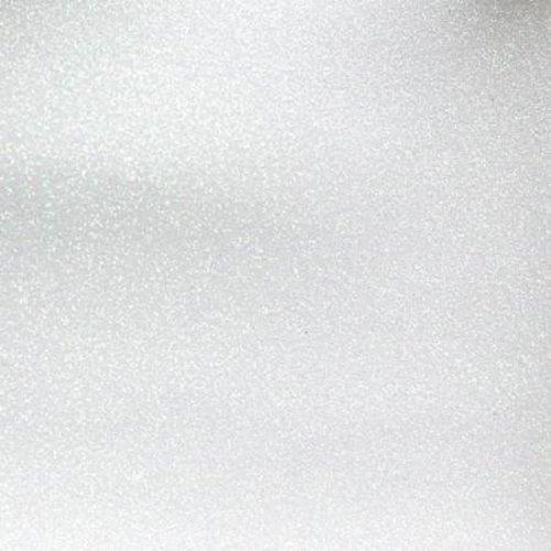 Mikri World Glitter Mirror Vinyl Roll in White