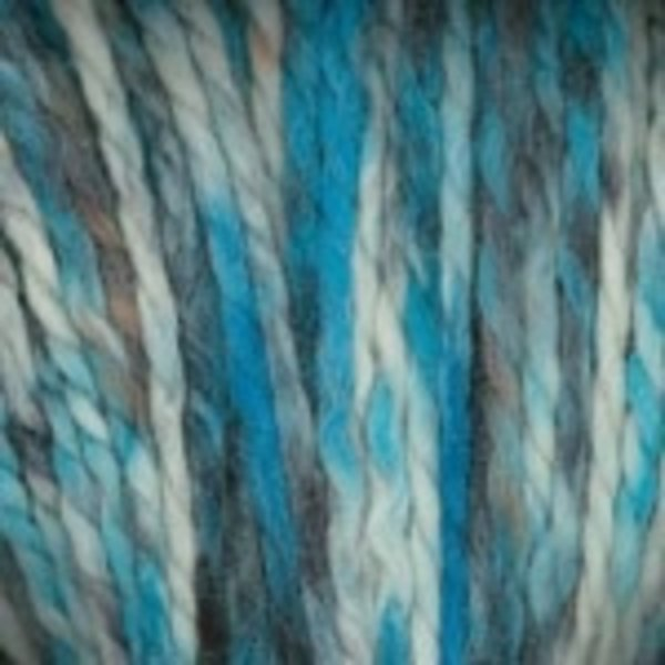 Plymouth Yarn Baby Alpaca Grande Hand Dyed Yarn in Cream/Teal/Brown 0142