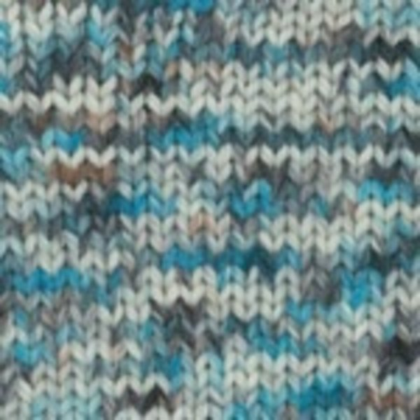 Plymouth Yarn SALE Baby Alpaca Grande Hand Dyed Yarn in Cream/Teal/Brown 0142