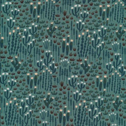 Cloud 9 Fabrics Desert Beyond in Green Organic