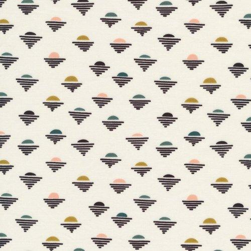 Cloud 9 Fabrics Setting Suns in Ivory Organic