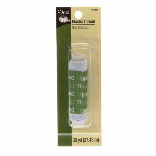 Dritz White Elastic Thread