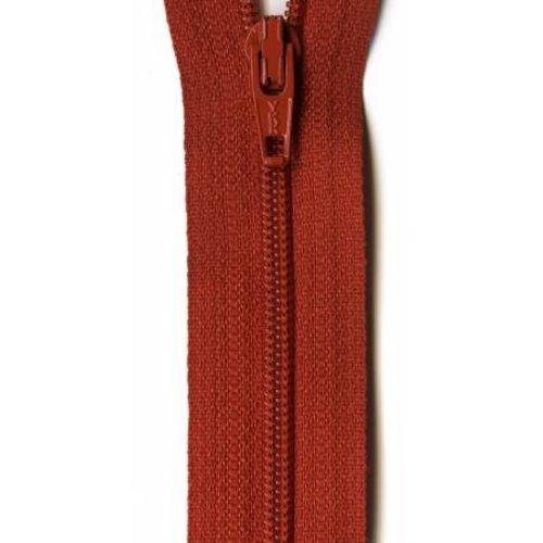 "YKK 14"" Zipper in Rust"