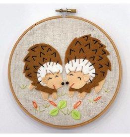 Sample - Hedgehog Embroidery Hoop