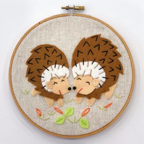 Sample - Hedgehog Embroidery Hoop