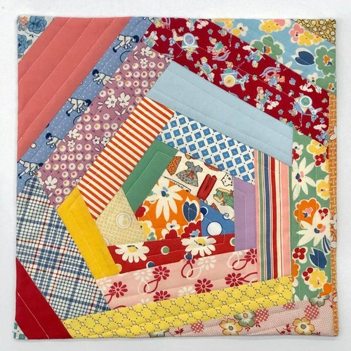 Sample - Crazy Block Mini Quilt