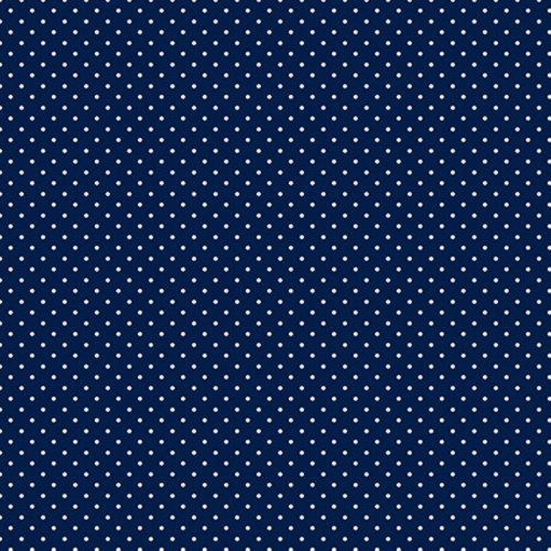 Quilting Treasures Mini Dot in Navy