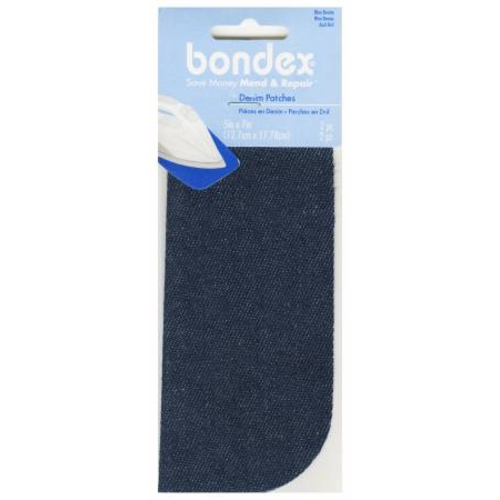 Bondex Iron on Patch in Blue Denim