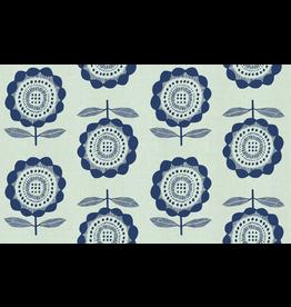 Cotton + Steel Peko in Blue (Unbleached)