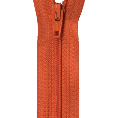 "YKK 14"" Zipper in Burnt Orange"