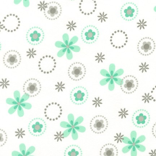 Robert Kaufman Spring Floral in Mint