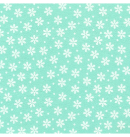 Robert Kaufman Small Floral in Mint Flannel