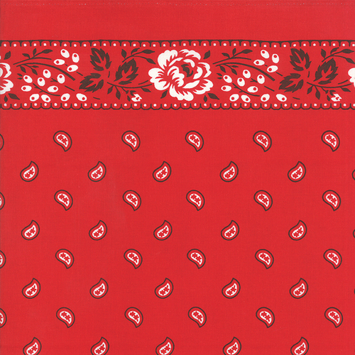 "Moda 16"" Kitchen Toweling in Bandana Red"