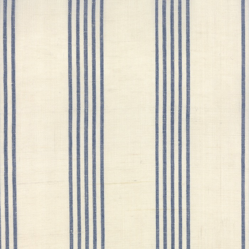 "Moda 16"" Linen Closet Stripe Toweling in Cream/Blue"