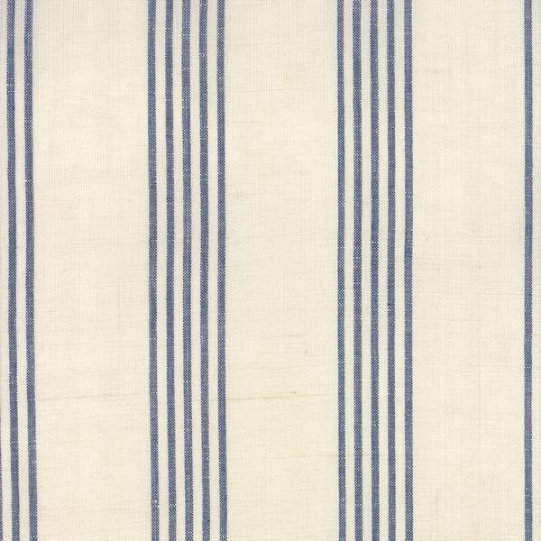 "Moda 16"" Linen Closet Stripe Toweling in Cream/Blue"